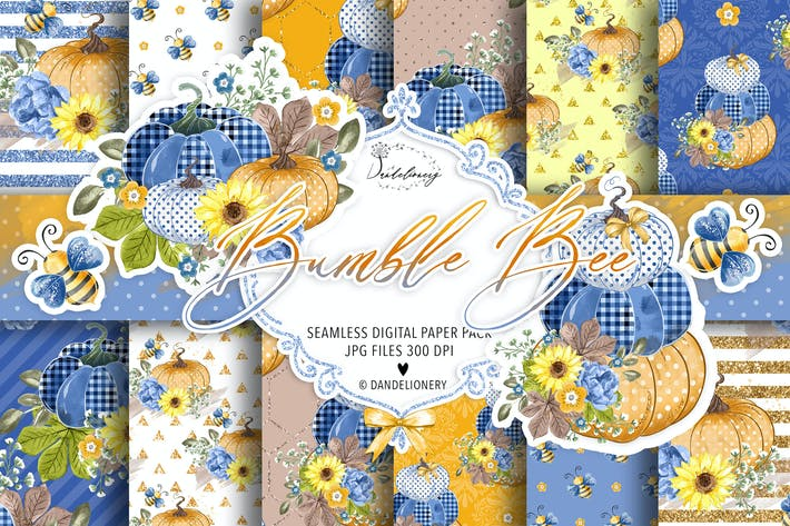 Thumbnail for Fall Pumpkin digital paper pack