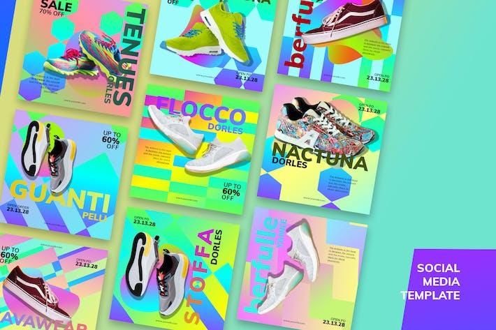 Thumbnail for Kit de médias sociaux de Sneakers Market