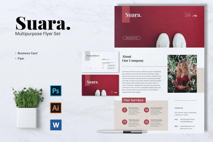 Thumbnail for SUARA Fashion Flyer & Business Card