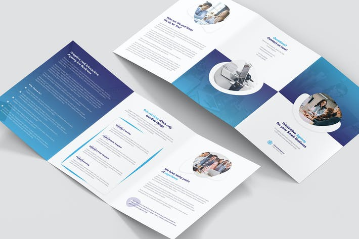 Thumbnail for Brochure – Interactive Agency Tri-Fold A5