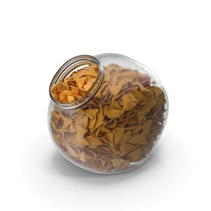 Spherical Jar with Corn Tortilla Nacho Chips