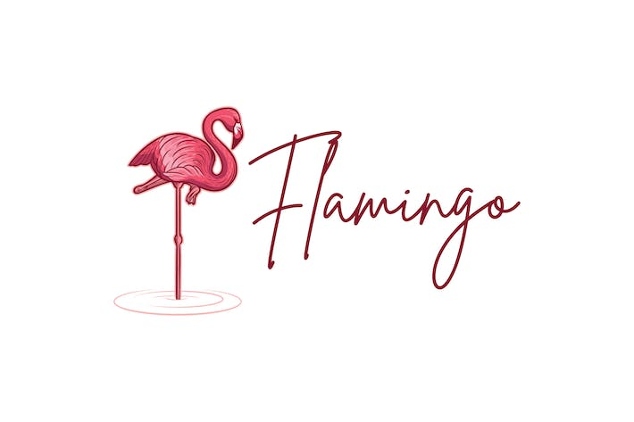 Thumbnail for Flamingo Mascot Logo