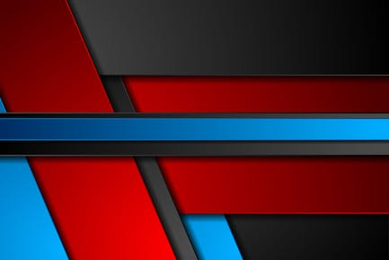 Blue and red geometric stripes
