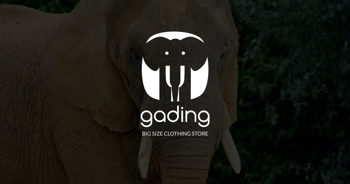 Download Gading : Negative Space Elephant Logo by punkl