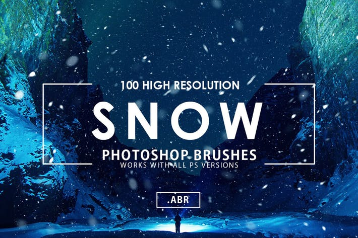 Thumbnail for 100 Snow Photoshop Brushes
