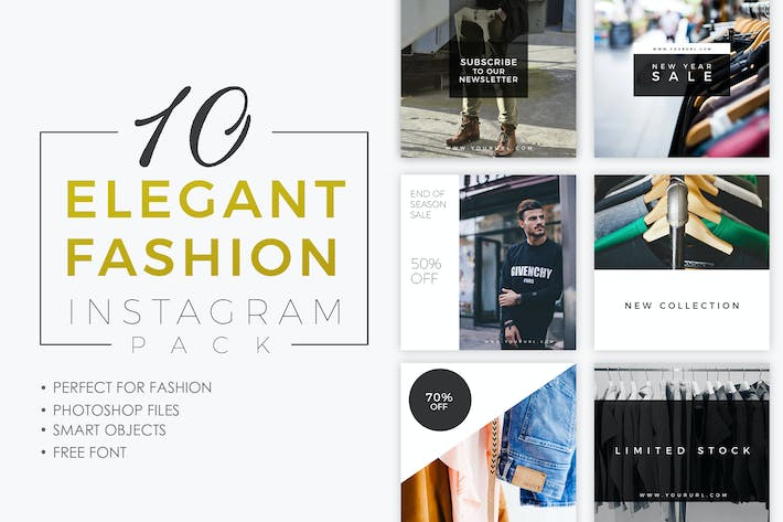 Thumbnail for 10 ELEGANT FASHION INSTAGRAM PACK