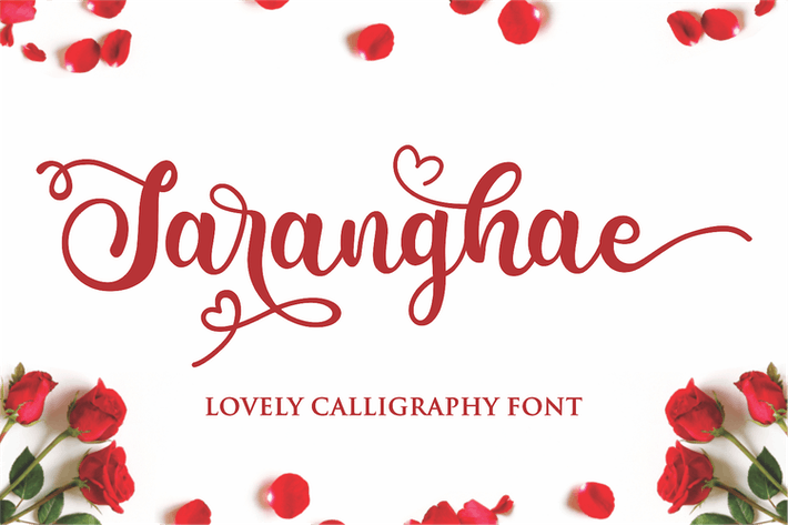 Thumbnail for Saranghae - Lovely Calligraphy Font