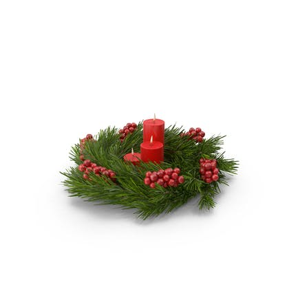 Christmas Wreath and Candles