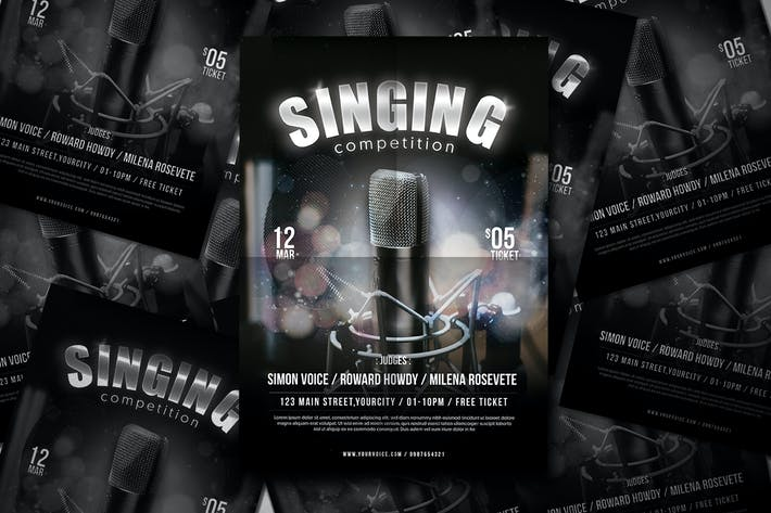 Sing Contest Flyer