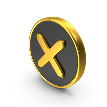 Falsches Kreuz-Logo-Sy