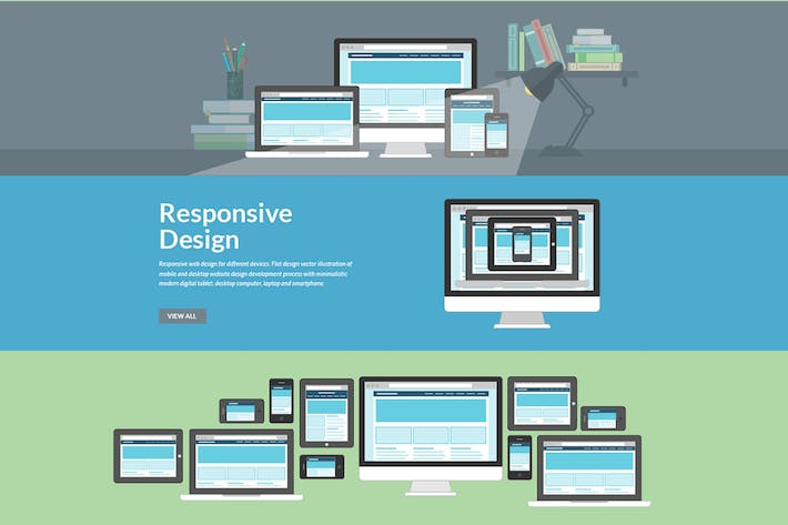 Flat Design Concepts for Responsive Web Design