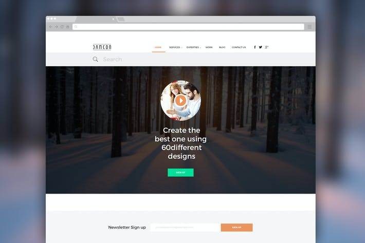 Thumbnail for Damcon – Multipurpose PSD Website Template