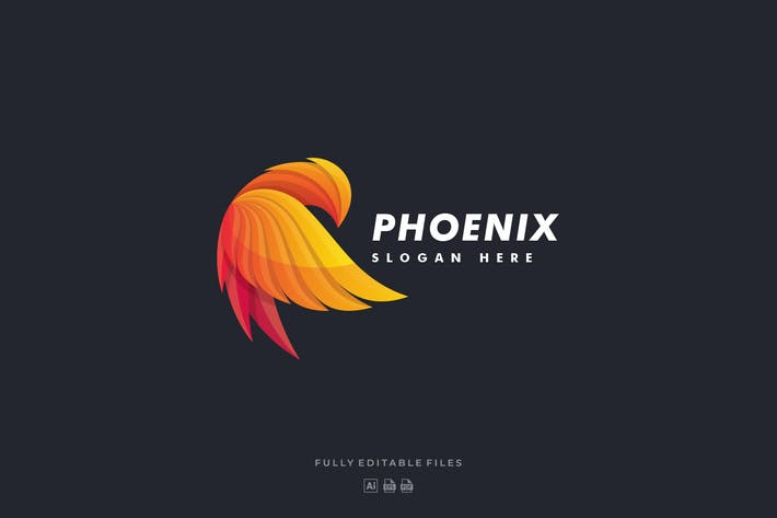 Thumbnail for Bird Phoenix Colorful Logo