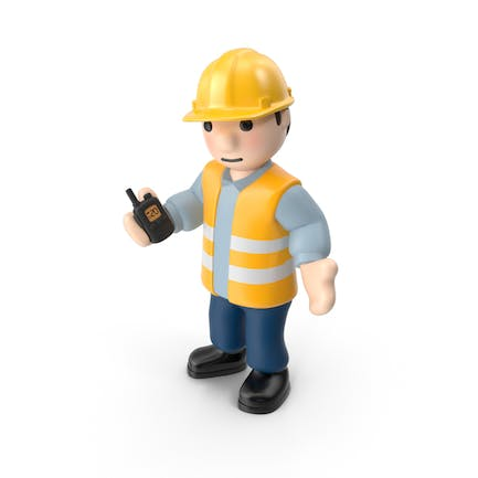 Worker with Radio