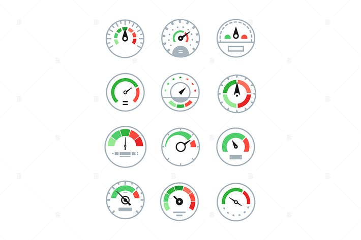 Thumbnail for Different speedometers - set of elements