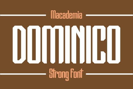 Dominico - Strong Font