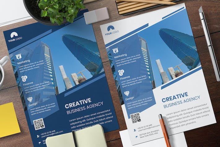 Thumbnail for Business Flyer Template Modern Design