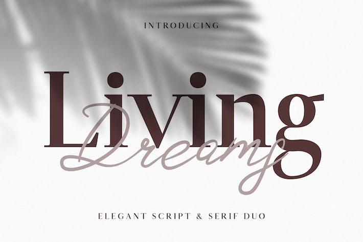 Thumbnail for Living Dreams - Serif & Script Font Duo