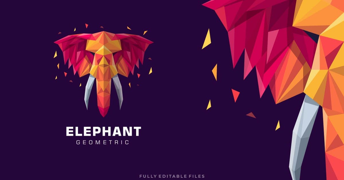 Download Elephant Poly Colorful Logo by ivan_artnivora
