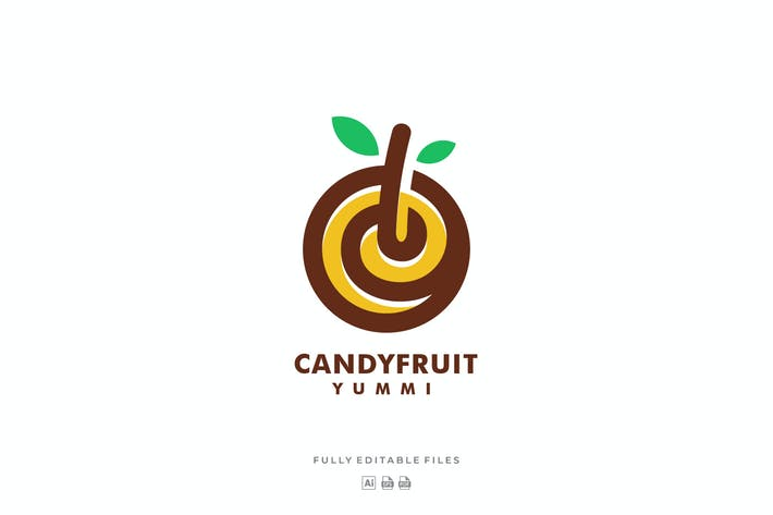 Thumbnail for Candy Fruit Simple Logo