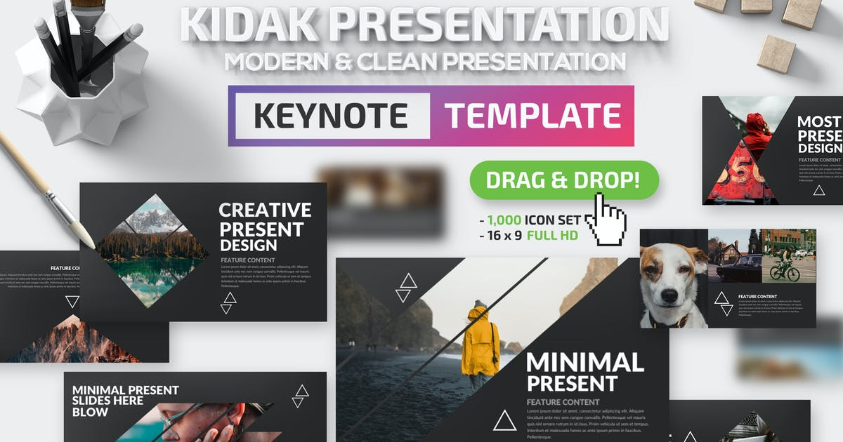 Download Kidak Keynote Template by mamanamsai