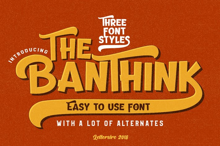 Cover Image For The Banthink - Retro Font