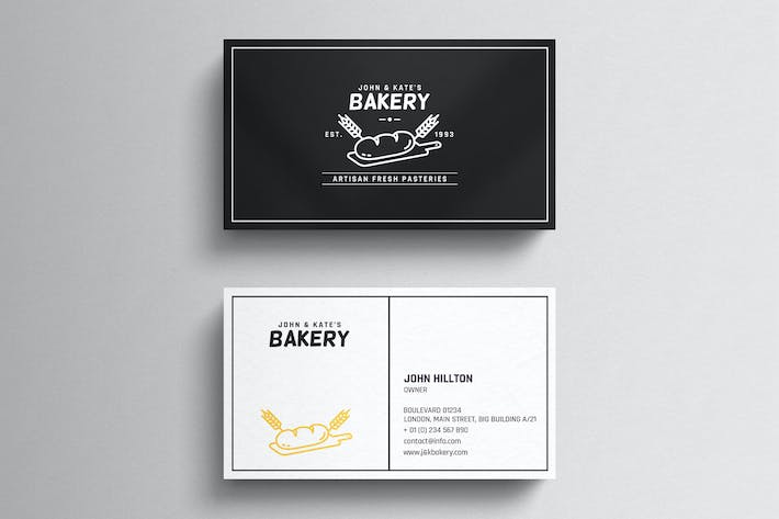 Cover Image For Bakery Business Card Template