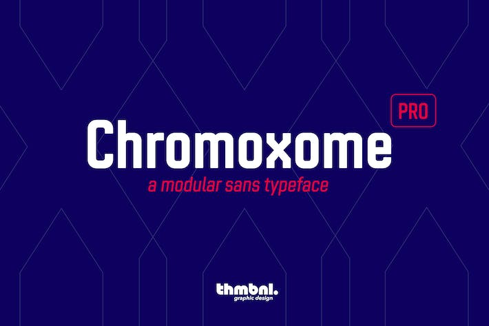 Thumbnail for Chromoxome Pro - Typeface