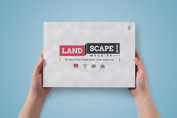 Thumbnail for Landscape Book Mock-Up Set