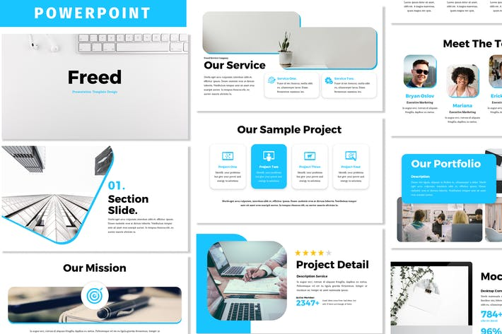 Freed - Business Powerpoint Template