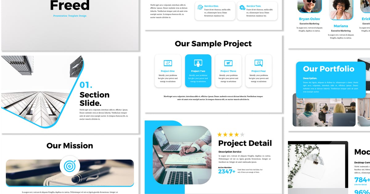 Download Freed - Business Powerpoint Template by Blesstudio