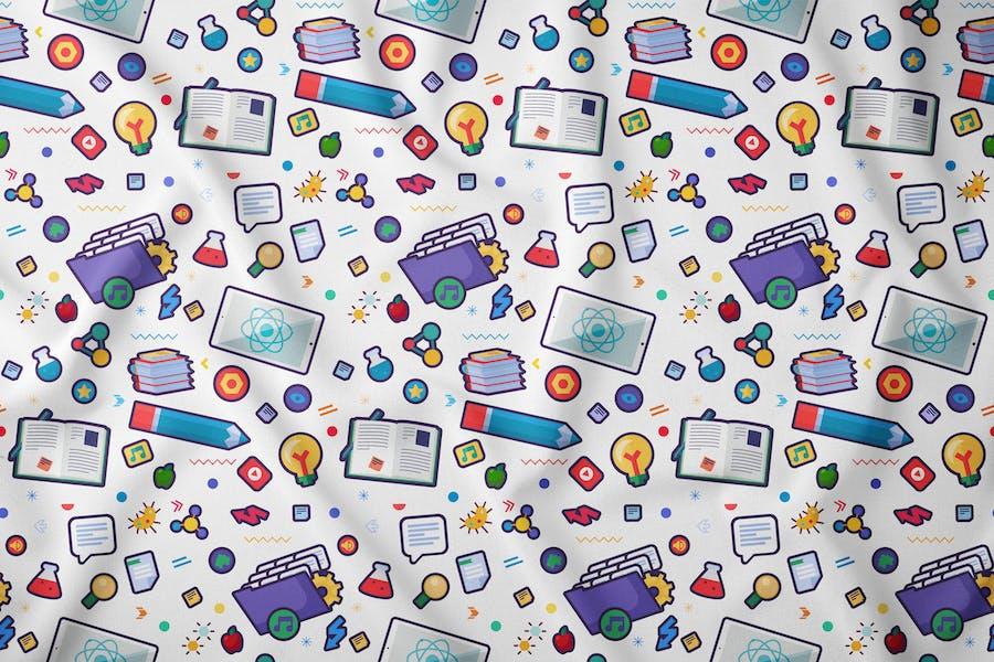Cartoon School Seamless Pattern