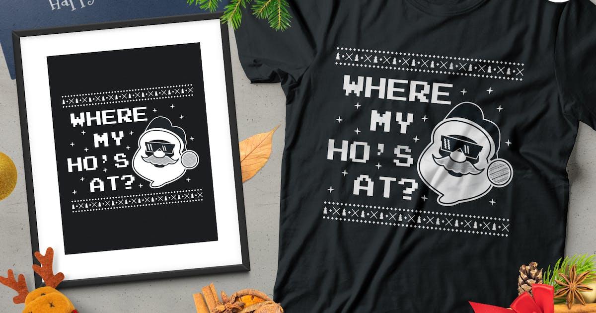 Download Christmas Santa Sweater T-Shirt Design. Xmas Party by JeksonJS