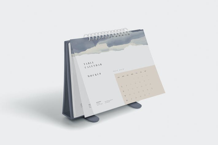 Thumbnail for 4 Table Calendar Mockups