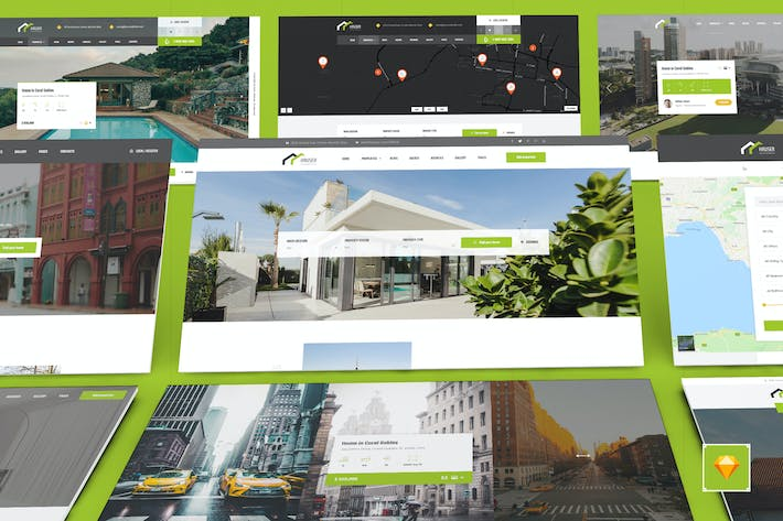 Thumbnail for Hauser - Real Estate Sketch Template