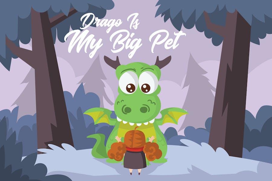 Drago Big Pet - Vector Illustration
