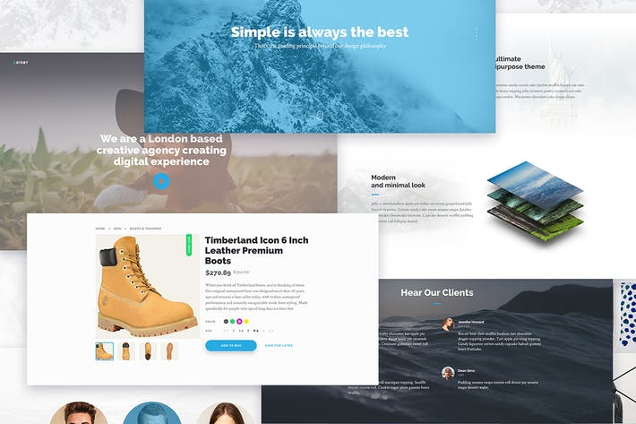 Thumbnail for Gatsby — Creative Multipurpose PSD Template