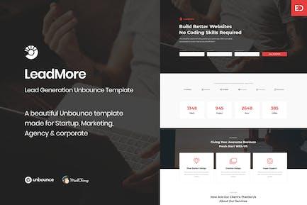 LeadMore - Lead Generation Unbounce Landing Page