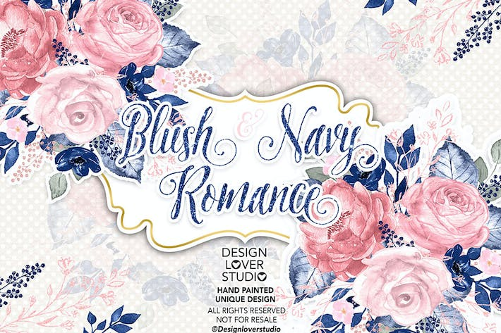 Thumbnail for Blush and Navy Romance