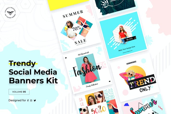 Cover Image For Social Media Templates Volume V