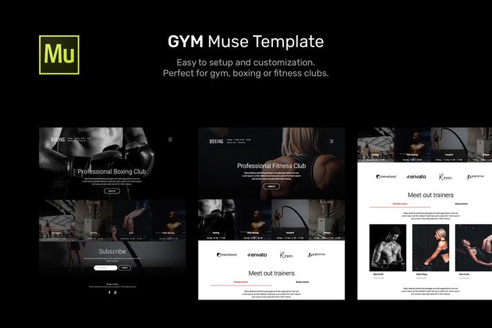 Thumbnail for GYM - Responsive Fitness and Gym Muse CC Template