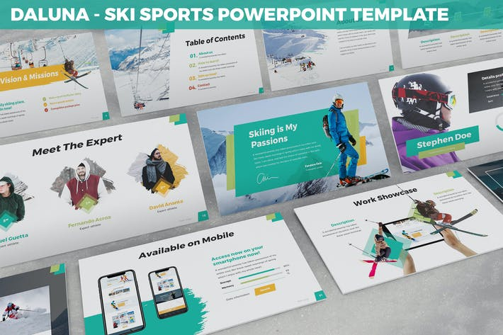 Thumbnail for Daluna - Skisport Powerpoint Vorlage