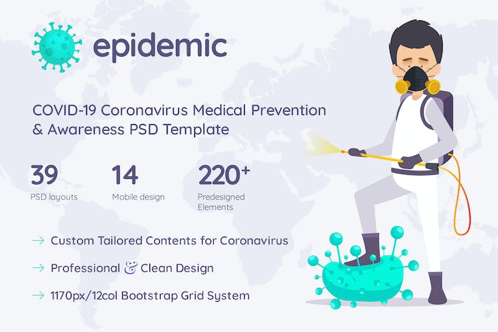 Thumbnail for Epidemic COVID-19 Prevention & Awareness Template