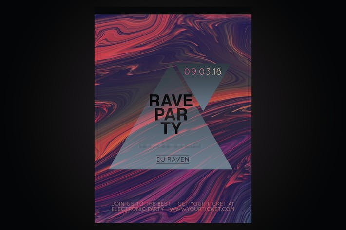 Thumbnail for Rave Party Flyer Poster