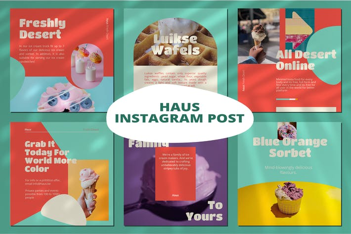 Thumbnail for Haus Instagram Template