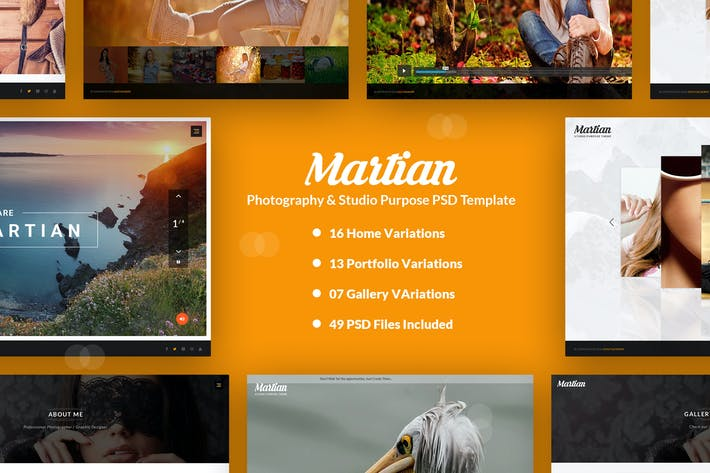 Thumbnail for Martian - Photogaphy & Studio Purpose PSD Template