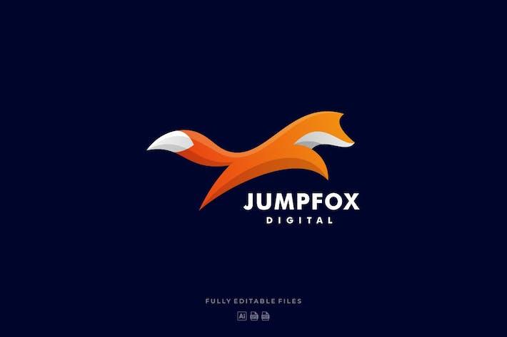 Fox Jump Colorful Logo
