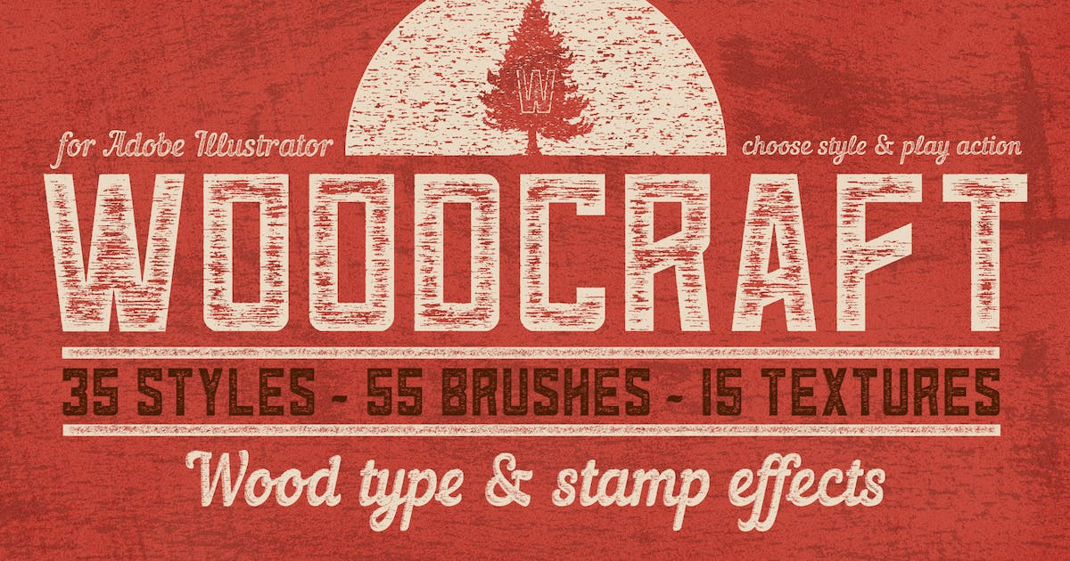 Download Woodcraft for Adobe Illustrator by guerillacraft