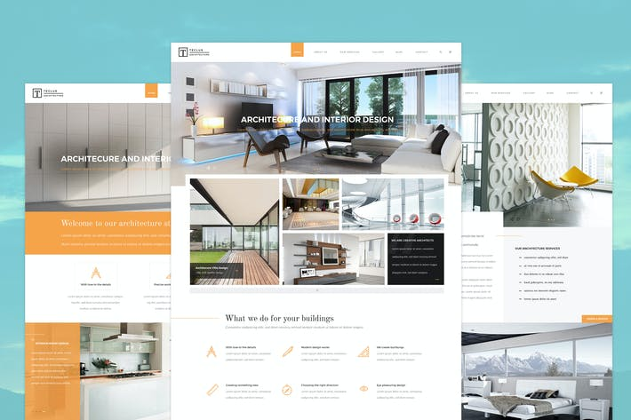 Thumbnail for Teclus - Architecture PSD Template