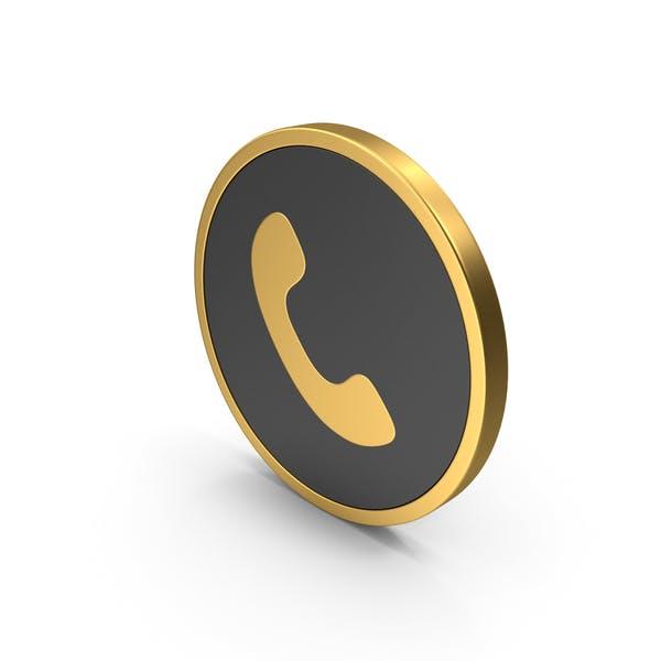 Gold Icon Telefon